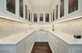 Butler's pantry in luxury home