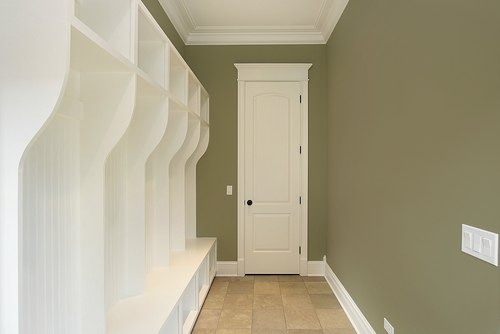 How a Custom Mudroom Gets Your Family Out the Door Quicker! - Perfect Fit Closets - Custom Mudroom Calgary
